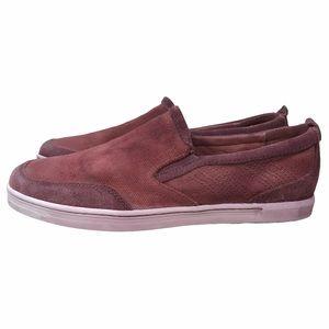 Bed Stu Men's Red Bluegill Leather Slip-on Sneaker